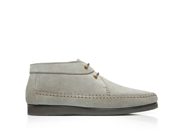 Grey suede shoes from Tom Ford