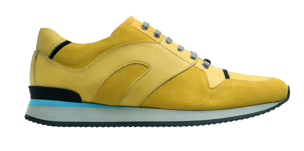 Yellow suede sneakers from Dior Homme