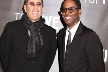 EBPKP0 New York, USA. 3rd Dec, 2014. Comedians JERRY SEINFELD and CHRIS ROCK attend the New York premiere of 'Top Five' held at the Ziegfeld Theater. © Nancy Kaszerman/ZUMAPRESS.com/Alamy Live News