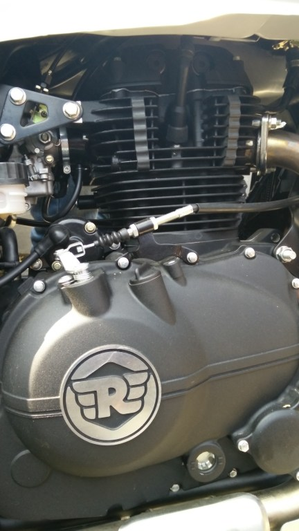 The Himalayan's 411cc single cylinder engine is a bored out version of RE's 350cc block