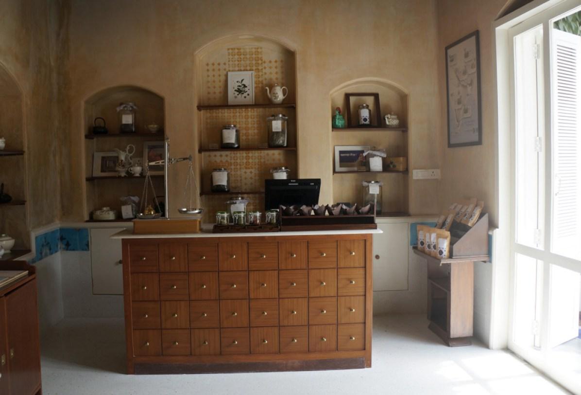 Retail area of the Brooke bond Taj Mahal Tea House