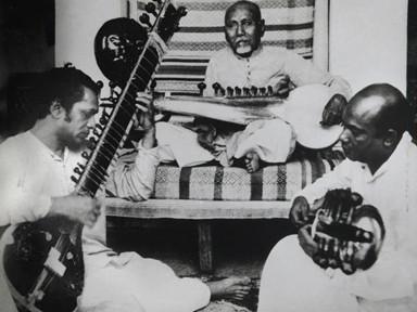 Pandit Ravi Shankar with Ustad Allauddin Khan and Ustad Ali Akbar Khan