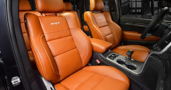6-2014 Jeep Cherokee SRT Interior Front Sepia