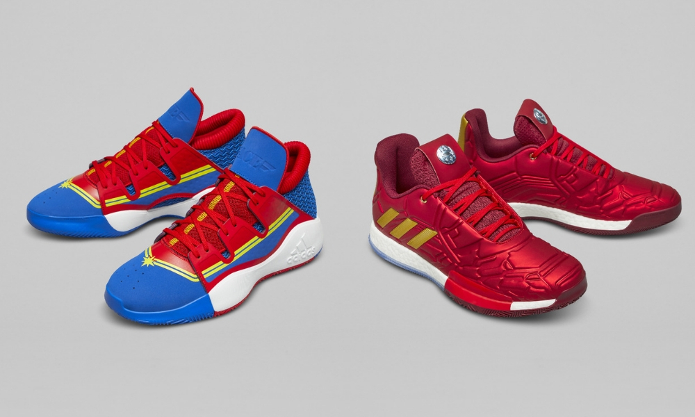 check out 179be b77f3 Adidas And Marvel Come Together To Release Superhero Inspired Basketball  Shoes