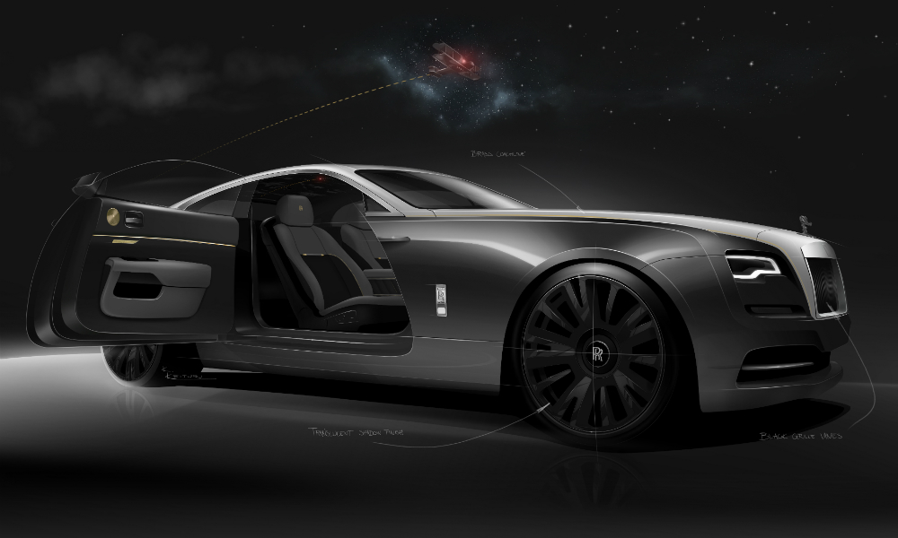 Rolls-Royce Releases Sketches of Special Edition Wraith Eagle VIII