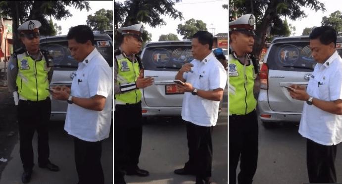 AROGAN! [Video] Pejabat Ini Tak Mau Ditilang Polisi