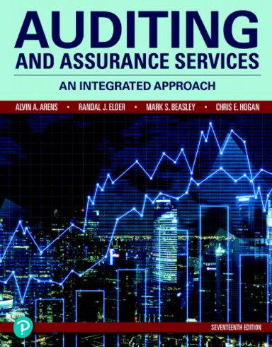 Image from Auditing and Assurance Services 17th Edition, pdf and download by Alvin A. Arens