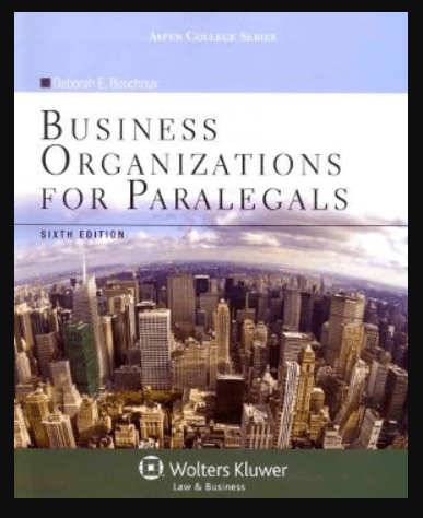 Image of Fundamentals of Business Organizations for Paralegals 6th Edition, pdf, ebook, download by Deborah E. Bouchou