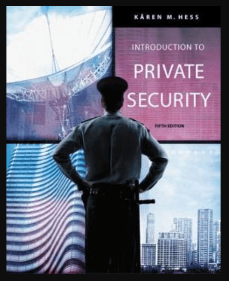Image of Introduction to Private Security 5th edition, pdf, ebook and download by Kären M. Hess
