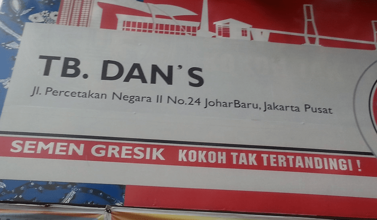Gambar terkait dengan toko bahan bangunan Jakarta Pusat