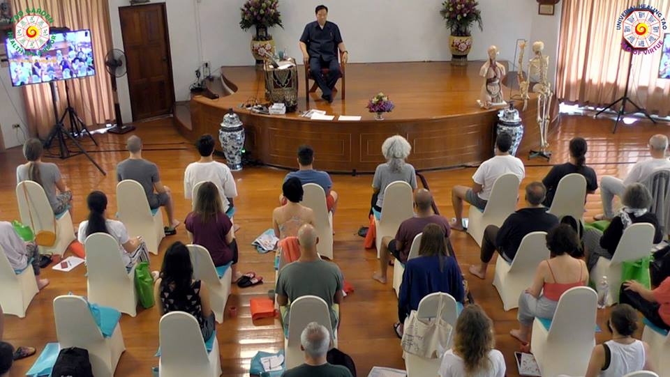 Mantak Chia teaching at Summer Retreat 2018 Week 1: Inner Alchemy Level I – Tao Garden, Thailand