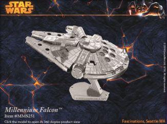 Star Wars Metal Earth 3D Model Construction Kit - Millennium Falcon
