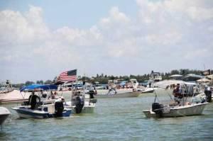 Aquapalooza boats lined up