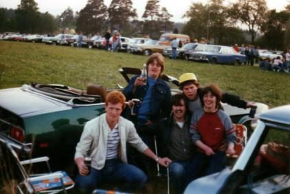 Rune , Stig, Beate og Mustang på Mantorp
