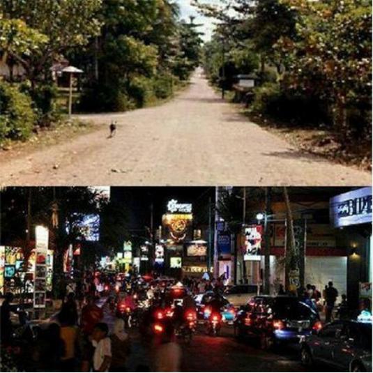 kuta sebelum dan sekarang