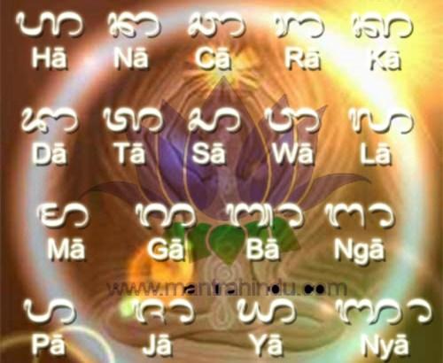 Aksara Bali Atau Anacaraka Sebagai Cakra - Mantra Hindu