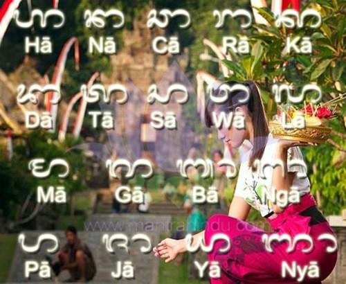 Aksara Bali Atau Anacaraka sebagai Mantra Hindu