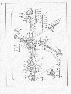 Manual Moto Kawasaki ZX 600 E3 Reparación en PDF TRANSMISION