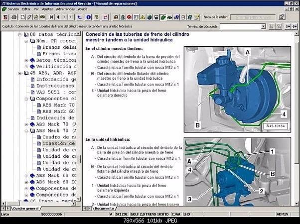 Manual Volkswagen Caddy 2005 Reparación y Servicio de Frenos, Ajustadores, Balatas, Boosters, Bujes de Caliper, Discos de Frenos, manguera de frenos, resortes de balatas