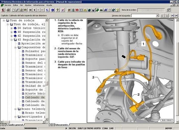 Manual Audi A2 2012 Reparación y Servicio de Suspensión Automotriz, horquilla, resortes, amortiguadores, tirante, brazos de suspensión, puente de suspensión, gomas, hules
