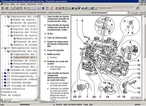 Manual Audi A2 2012 Reparación y Servicio de Motor, Pistones, bielas, juntas, soportes, cabeza, bujias, filtro de aire, filtro de gasolina, filtro de aceite