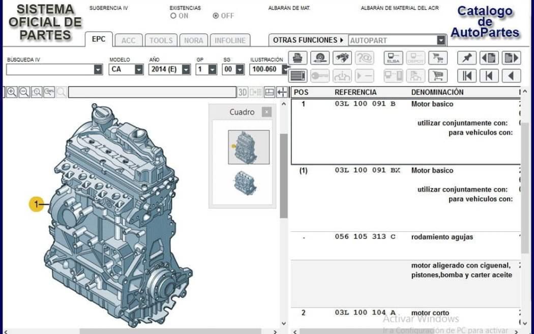Catalogo de Refacciones para Volkswagen LT 2006
