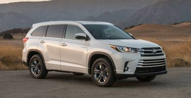 Manual Toyota Highlander Hybrid 2017 de Usuario