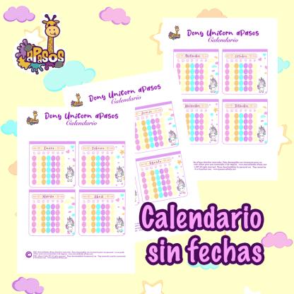 Calendario Dony Unicornio