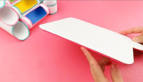 base de organizador de escritorio de carton