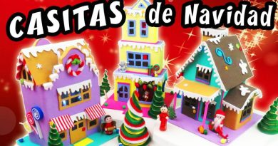 Casas de Navidad en Foami