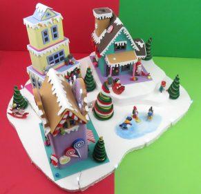 Plantillas casitas navideñas