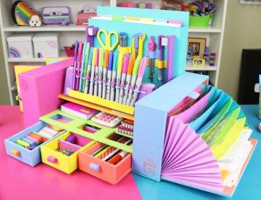 Organizador de carton para escritorio paso a paso