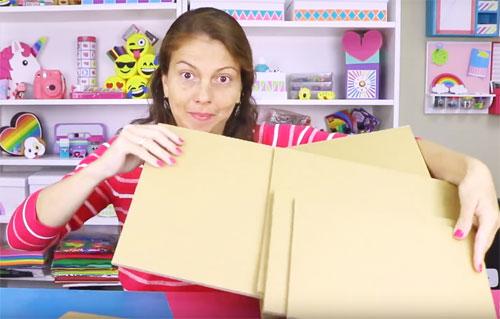Organizador de carton para escritorio