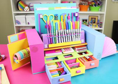 Organizador de útiles escolares
