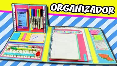 Organizador de escritorio casero