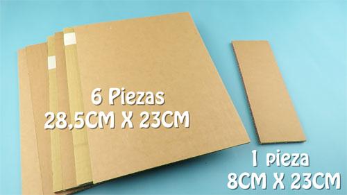 Organizador de escritorio con piezas de carton