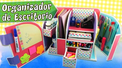 Organizador de escritorio hecho a mano