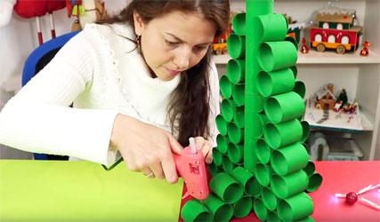 Proyecto de reciclaje para navidad