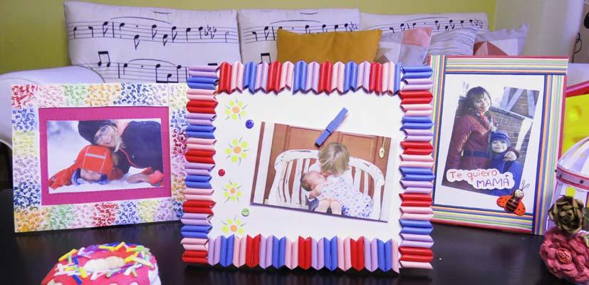 Portaretratos con macarrones para hacer con niños