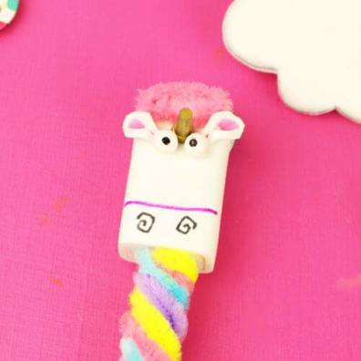 como hacer lapicera de unicornio