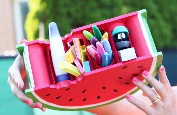mini organizador con rollos de papel higienico