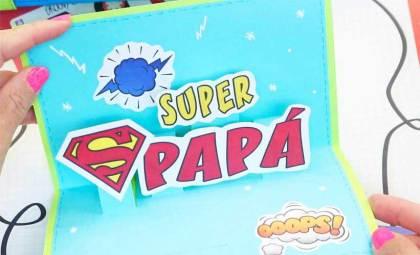 tarjeta para super papa