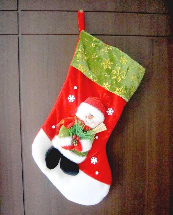 bota de navidad para chimenea