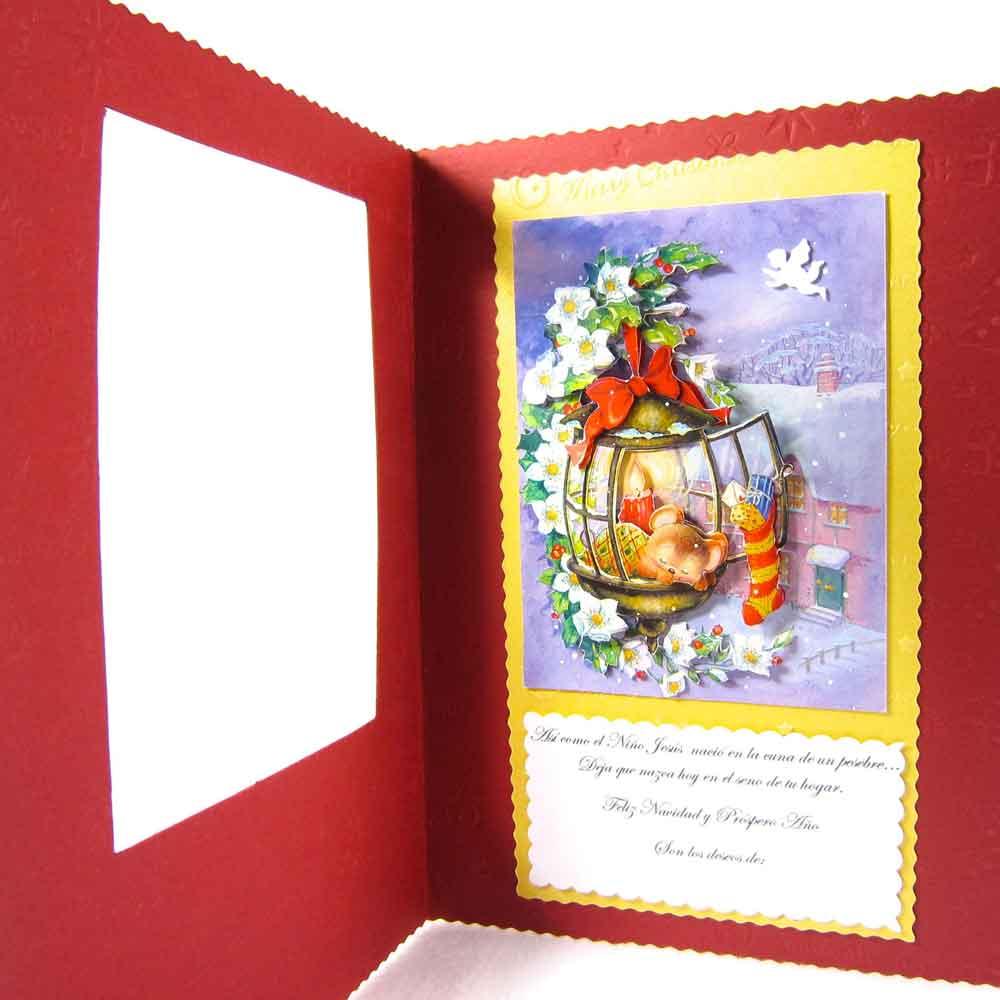 como hacer tarjetas de navidad faciles