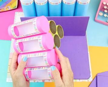 manualidades con rollos de papel faciles