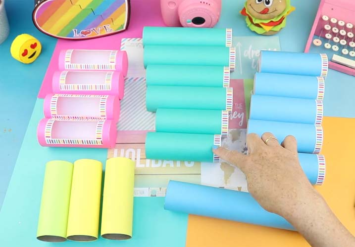 manualidades con tubos de papel aluminio