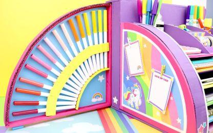 Organizador de unicornio casero