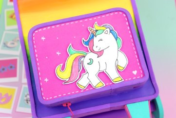 estuche de unicornio