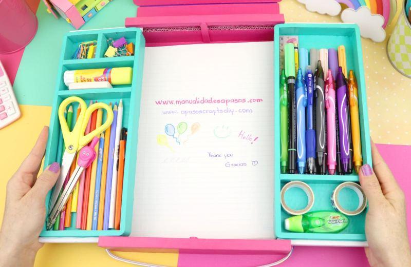 Organizador con tabla de escribir