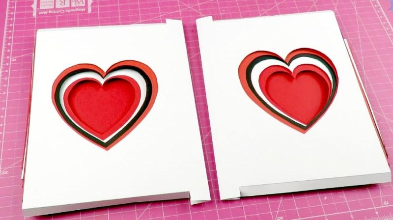 Tarjeta extensible para san valentin